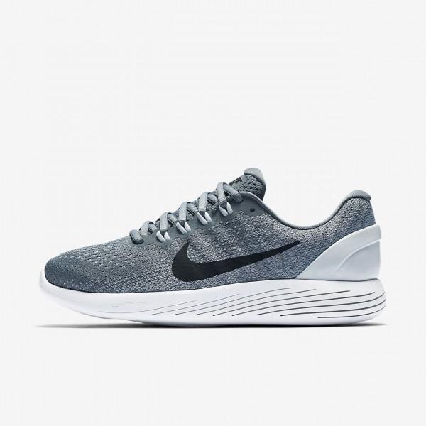 Nike Lunarglide 9 Laufschuhe Damen Grau Platin Wei...