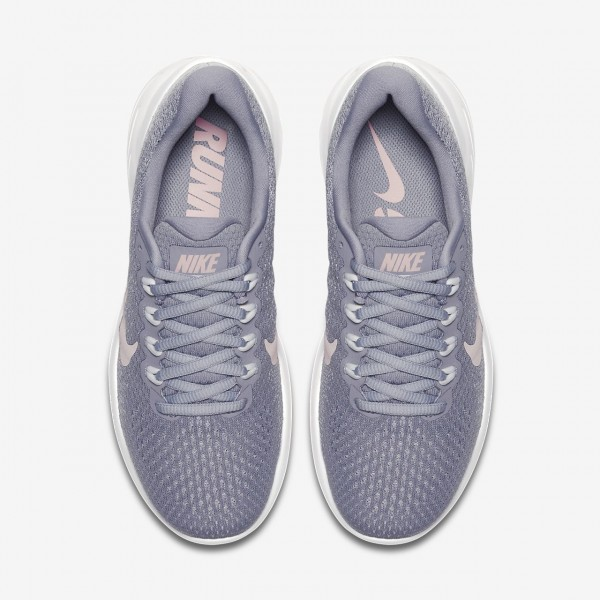 Nike Lunarglide 9 Laufschuhe Damen Lila Weiß Rosa 451-46038