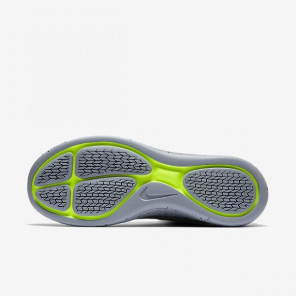 Nike Lunarepic Flyknit Shield Laufschuhe Damen Schwarz Dunkelgrau Metallic Silber 257-18782