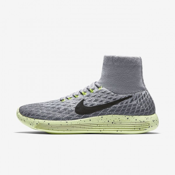 Nike Lunarepic Flyknit Shield Laufschuhe Damen Gra...