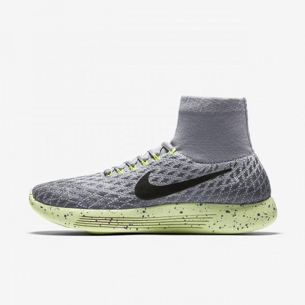 Nike Lunarepic Flyknit Shield Laufschuhe Damen Grau Grün Schwarz 108-43272