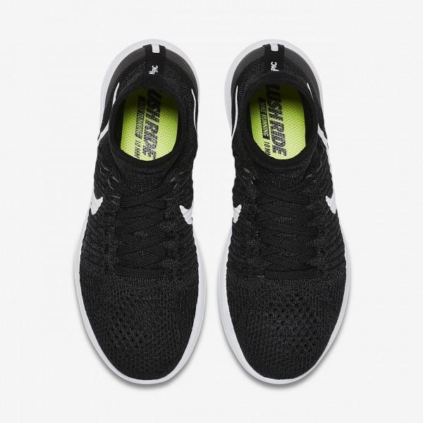 Nike Lunarepic Flyknit Laufschuhe Damen Schwarz Grün Weiß 197-72745
