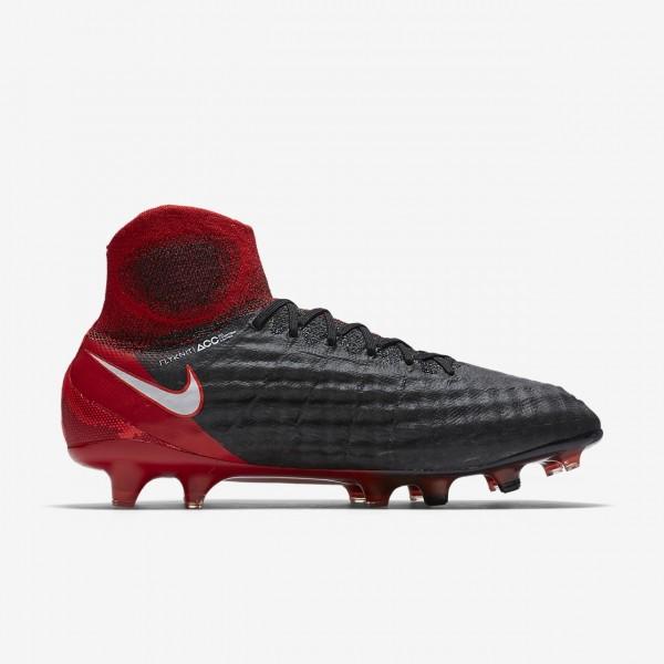 Nike Magista Obra II Fg Fußballschuhe Damen Schwarz Rot Weiß 953-98106
