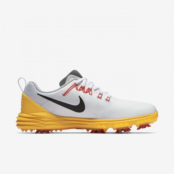 Nike Lunar Command 2 Golfschuhe Damen Weiß Orange Rot Schwarz 632-77618