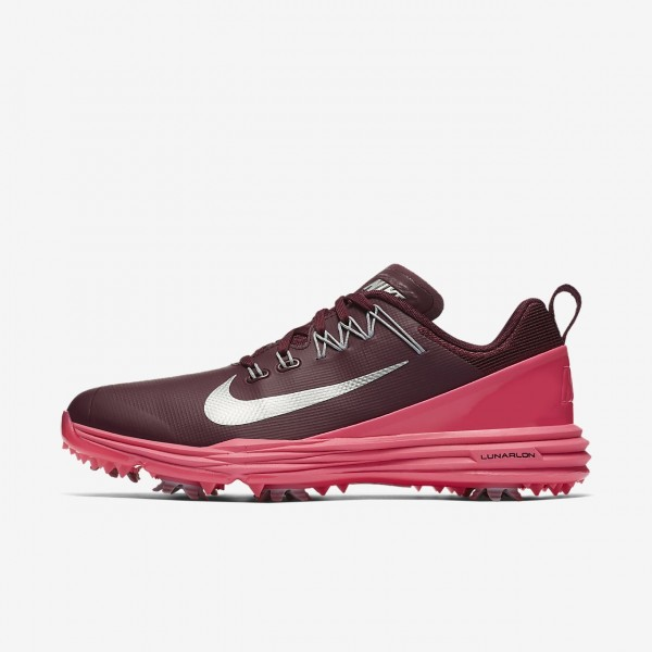Nike Lunar Command 2 Golfschuhe Damen Bordeaux Pin...