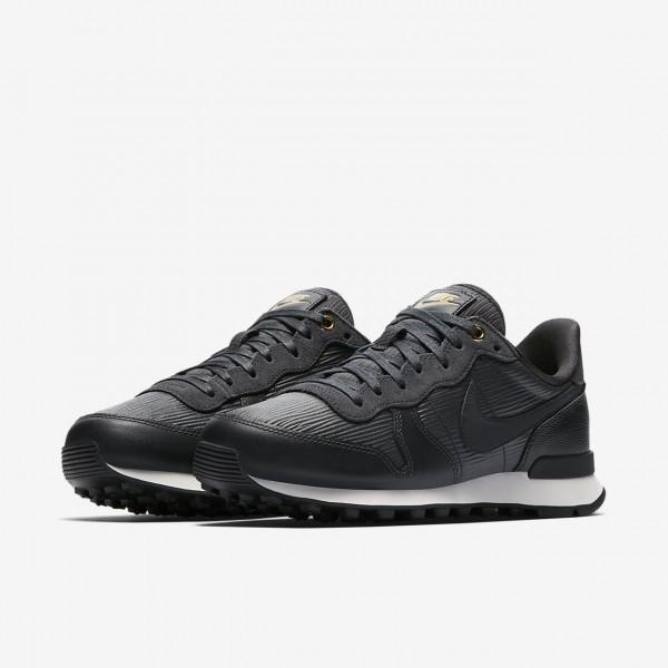 Nike Internationalist Premium Freizeitschuhe Damen Schwarz Weiß 385-50493