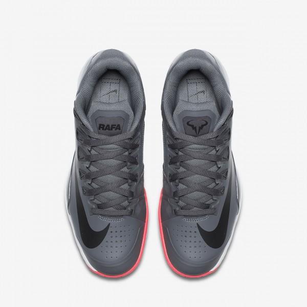 Nike Court Lunar Ballistec 1 5 Legend Tennisschuhe Herren Dunkelgrau Rot Weiß Schwarz 159-66479