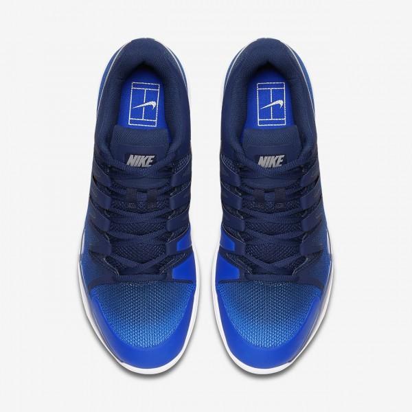 Nike Court Zoom Vapor 9 5 Tour Carpet Tennisschuhe Herren Navy Blau Metallic Silber 351-87763