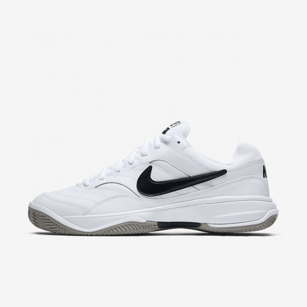Nike Court Lite Clay Tennisschuhe Herren Weiß Gra...