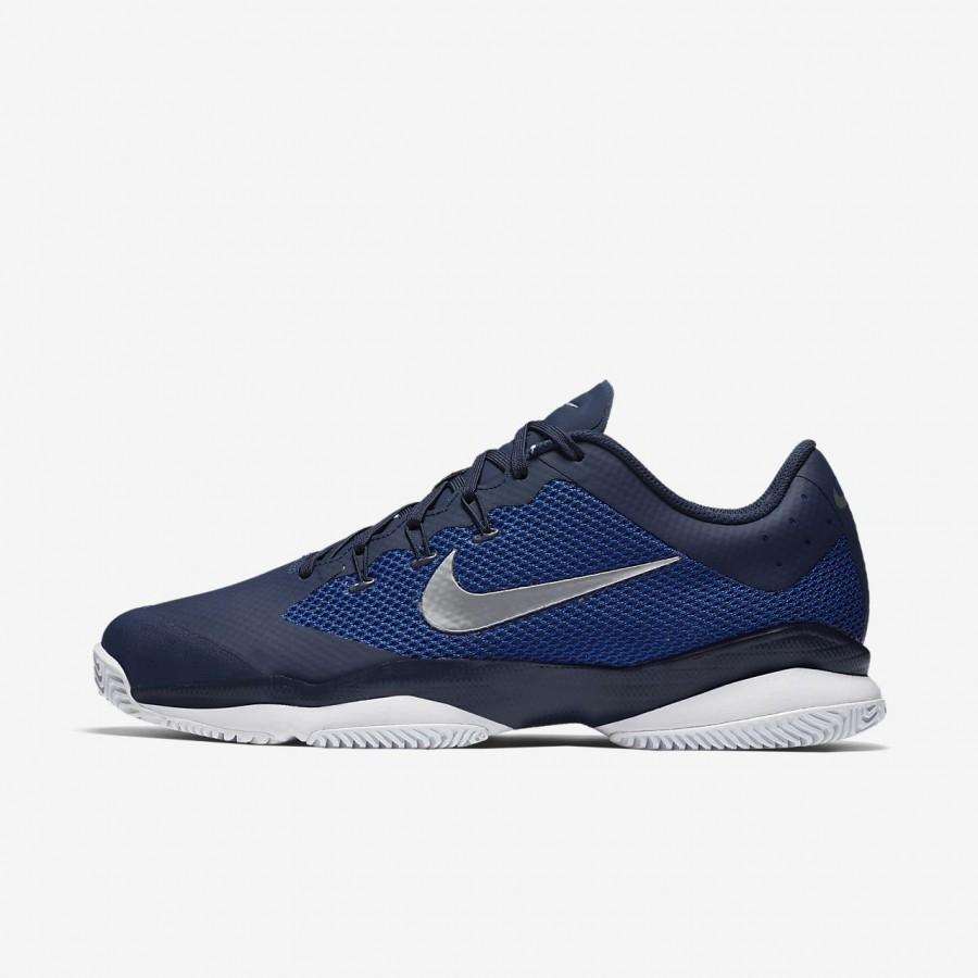 Air Navy Herren Tennisschuhe Blau Weiß Nike Zoom Court Ultra dCrBeoxW