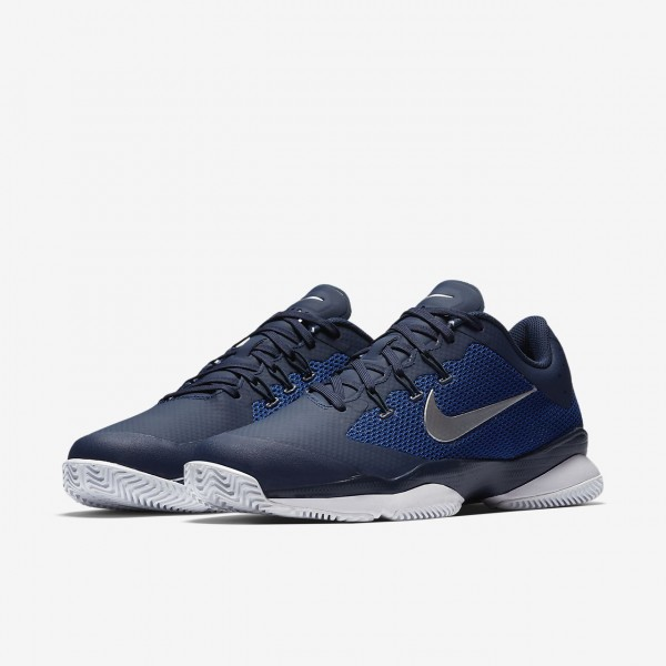 Nike Court Air Zoom Ultra Tennisschuhe Herren Navy Blau Weiß Metallic Silber 260-47726