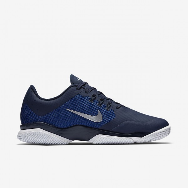 Nike Court Air Zoom Ultra Tennisschuhe Herren Navy Blau Weiß Metallic Silber 260-47726