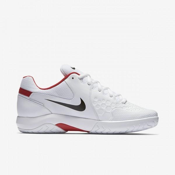Nike Court Air Zoom Resistance Tennisschuhe Herren Weiß Rot Schwarz 355-37559