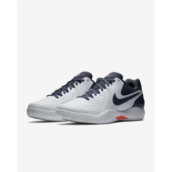Nike Court Air Zoom Resistance Tennisschuhe Herren Weiß Orange Blau 595-88864