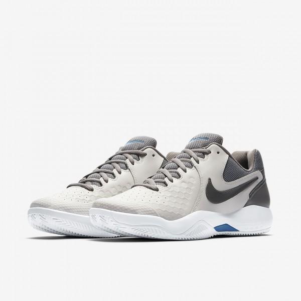 Nike Court Air Zoom Resistance Tennisschuhe Herren Grau Blau Weiß 533-47665
