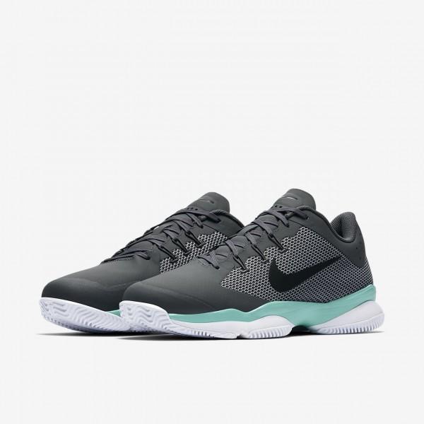 Nike Court Air Zoom Ultra Tennisschuhe Herren Dunkelgrau Grün Grau Schwarz 286-90899