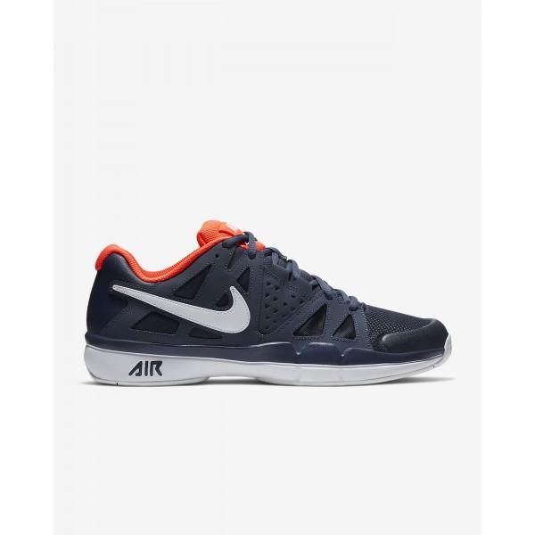 Nike Court Air Vapor Advantage Tennisschuhe Herren Blau Orange Weiß 782-17303
