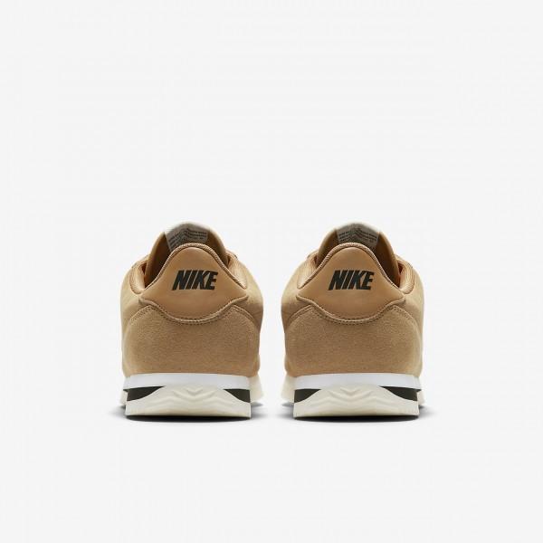 Nike Cortez Basic Se Freizeitschuhe Herren Gold Weiß Schwarz 578-14467