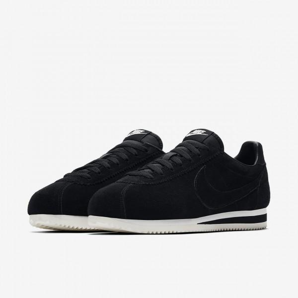Nike Classic Cortez Se Freizeitschuhe Herren Schwarz Weiß 447-23654