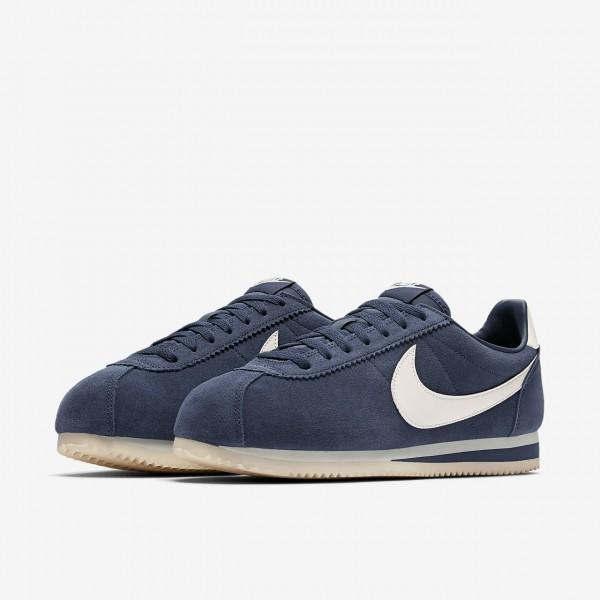 Nike Classic Cortez Se Freizeitschuhe Herren Navy Weiß 800-96483