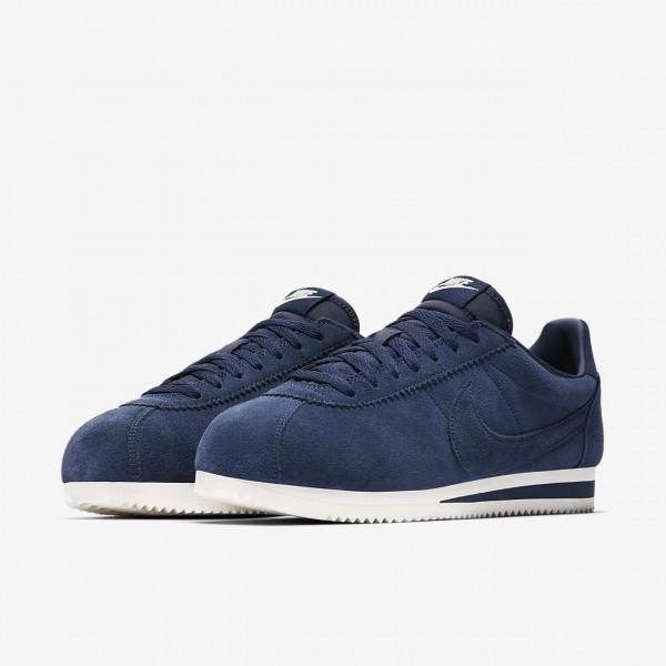 Nike Classic Cortez Se Freizeitschuhe Herren Navy Weiß 515-45613