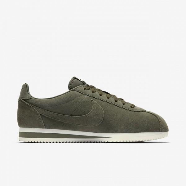 Nike Classic Cortez Se Freizeitschuhe Herren Khaki Weiß 884-56358