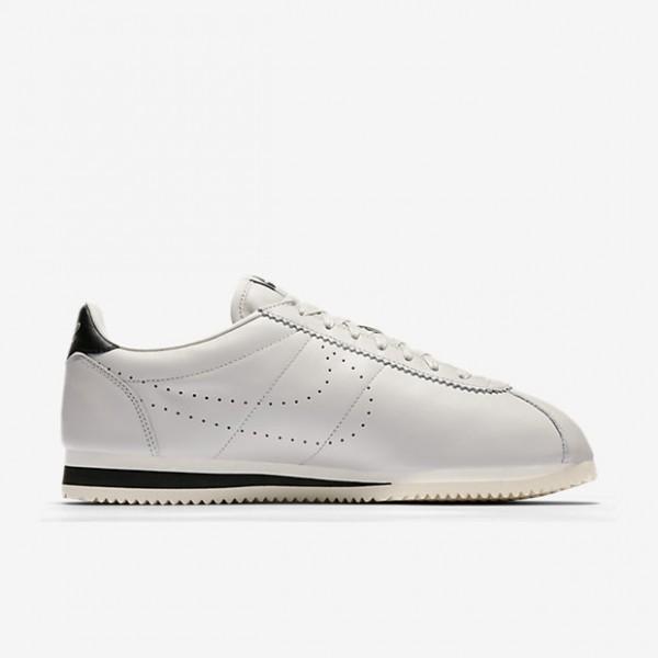 Nike Classic Cortez Leder Premium Freizeitschuhe Herren Weiß Schwarz 439-44430