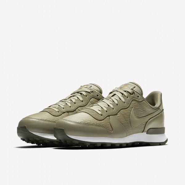 Nike Internationalist Premium Freizeitschuhe Damen Olive Weiß 844-66809