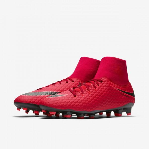Nike Hypervenom Phelon III Dynamic Fit Fg Fußballschuhe Damen Rot Schwarz 434-78083