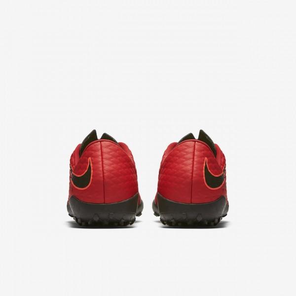 Nike Hypervenomx Phelon 3 Tf Fußballschuhe Damen Rot Schwarz 126-86101