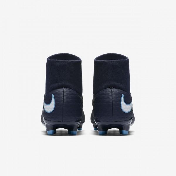 Nike Hypervenom Phelon III Dynamic Fit Fg Fußballschuhe Damen Obsidian Blau Weiß 593-30346