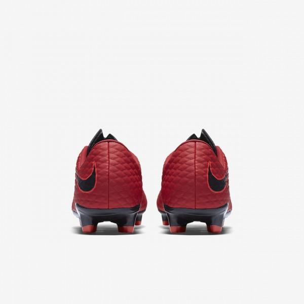 Nike Hypervenom Phelon 3 Fg Fußballschuhe Damen Rot Schwarz 608-36257