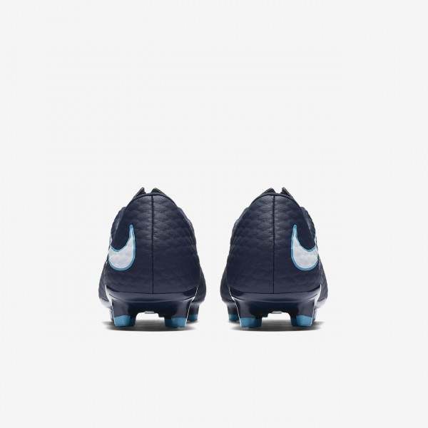 Nike Hypervenom Phelon 3 Fg Fußballschuhe Damen Obsidian Blau Weiß 977-84030