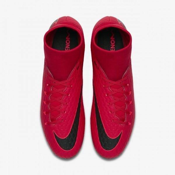 Nike Hypervenom Phelon 3 Dynamic Fit Ag-pro Fußballschuhe Damen Rot Schwarz 912-17238