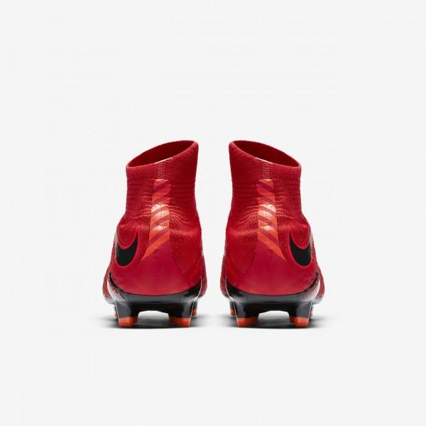 Nike Hypervenom Phatal 3 Df Fg Fußballschuhe Damen Rot Schwarz 232-25208