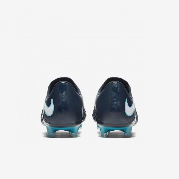 Nike Hypervenom Phantom 3 Fg Fußballschuhe Damen Obsidian Blau Weiß 536-97589