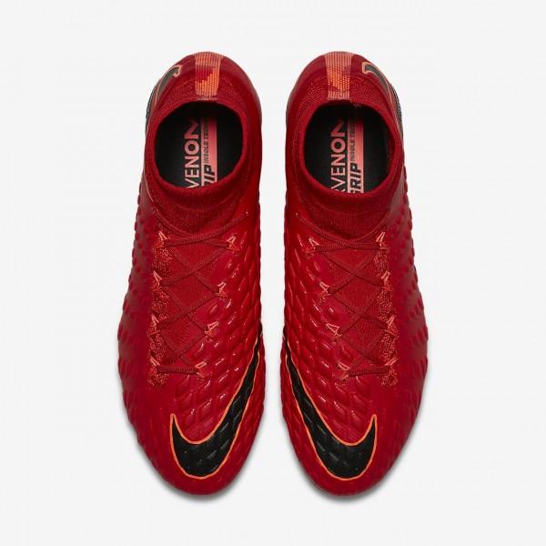 Nike Hypervenom Phantom 3 Df Fg Fußballschuhe Damen Rot Schwarz 523-60272