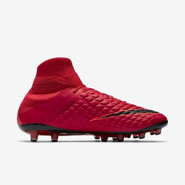 Nike Hypervenom Phantom 3 Df Ag Fußballschuhe Damen Rot Schwarz 278-79532