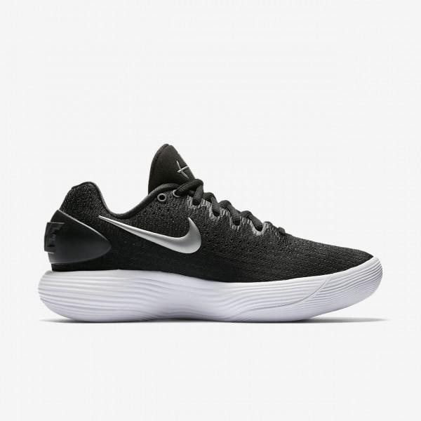 Nike Hyperdunk 2017 low (Team) Basketballschuhe Damen Schwarz Weiß Metallic Silber 436-55149