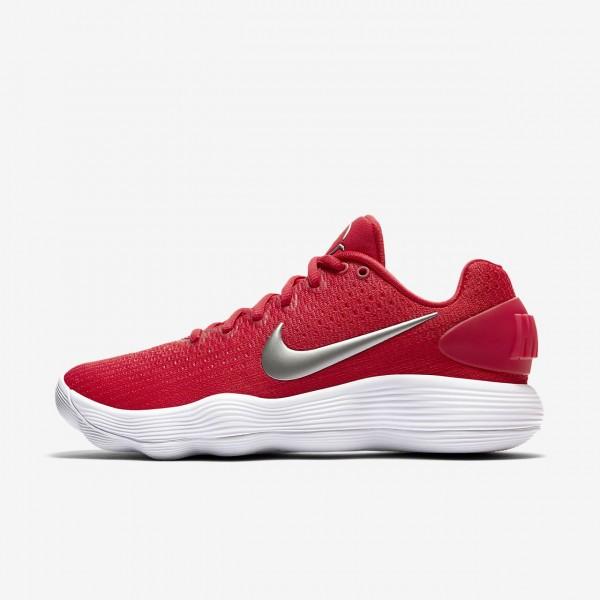 Nike Hyperdunk 2017 low (Team) Basketballschuhe Damen Rot Weiß Metallic Silber 306-27769
