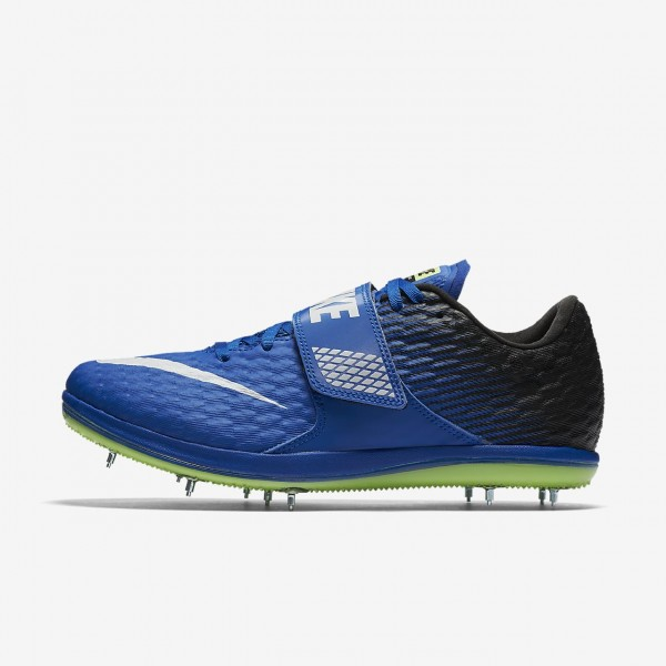 Nike high Jump Elite Spike Schuhe Damen Blau Schwa...