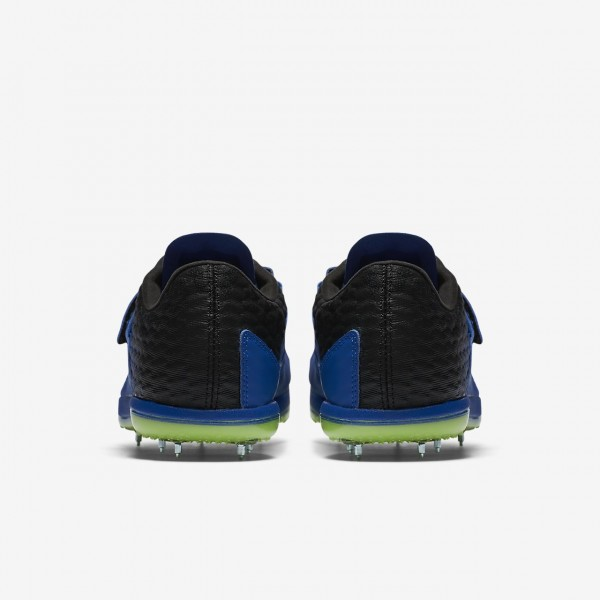 Nike high Jump Elite Spike Schuhe Damen Blau Schwarz Grün Weiß 353-95601