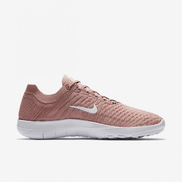Nike Free Tr Flyknit 2 Trainingsschuhe Damen Pink Weiß 105-30995