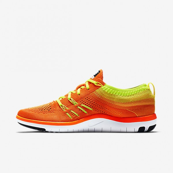 Nike Free Tr Focus Flyknit Trainingsschuhe Damen Orange Grün Weiß Schwarz 124-78762