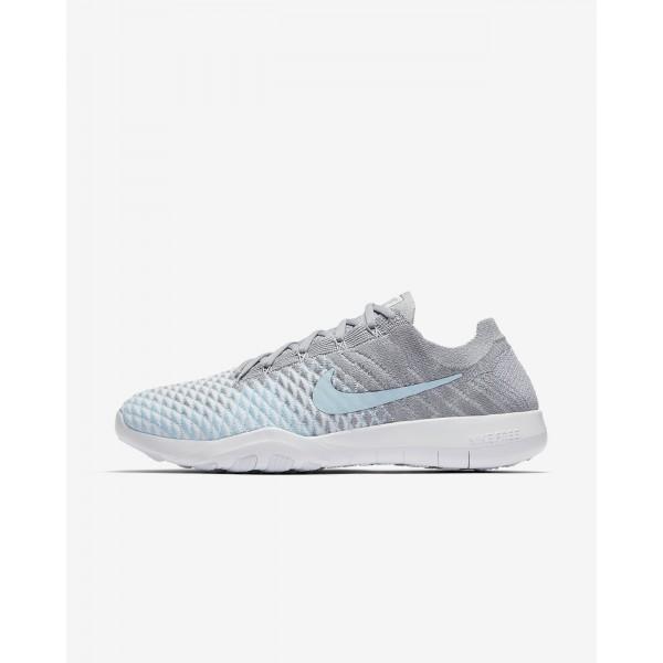Nike Free Tr Flyknit 2 Trainingsschuhe Damen Grau Weiß Blau 516-27225