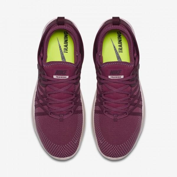Nike Free Tr 7 Trainingsschuhe Damen Fuchsie Grau Rot Bordeaux 913-85263