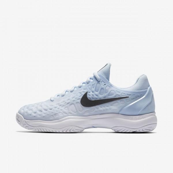 Nike Zoom Cage 3 Tennisschuhe Damen Blau Weiß Met...