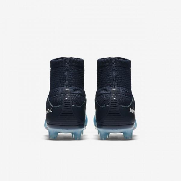 Nike Mercurial Veloce III Dynamic Fit Fg Fußballschuhe Damen Obsidian Blau Weiß 863-31580