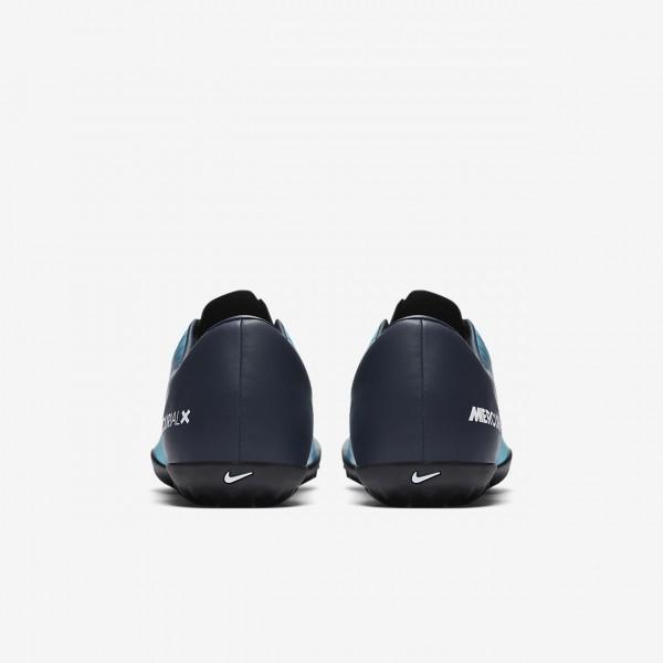 Nike Mercurial Victory VI Tf Fußballschuhe Damen Obsidian Blau Weiß 261-61746