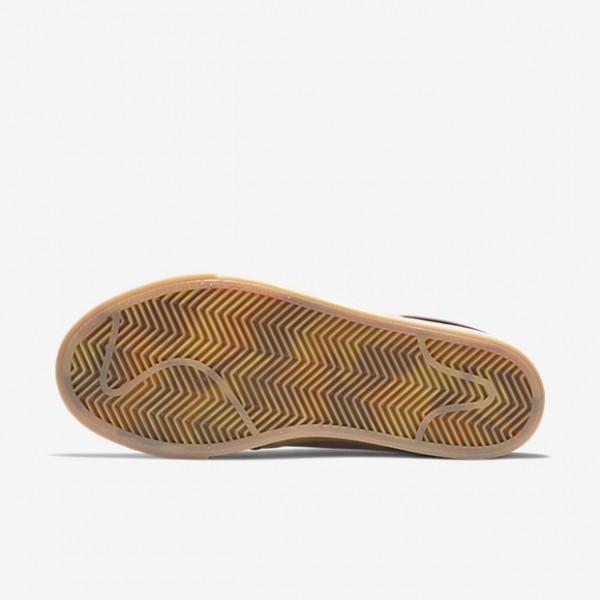 Nike Sb Air Zoom Stefan Janoski Skaterschuhe Damen Bordeaux Weiß Dunkelbraun 532-55942